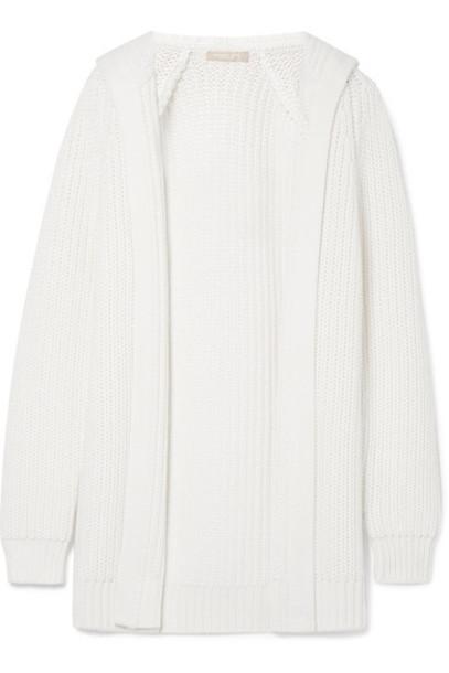 Michael Kors Collection cardigan cardigan white cotton wool sweater