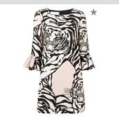 dress,Valentino,tiger print,tigerprintdress,tiger,animal print,midi dress