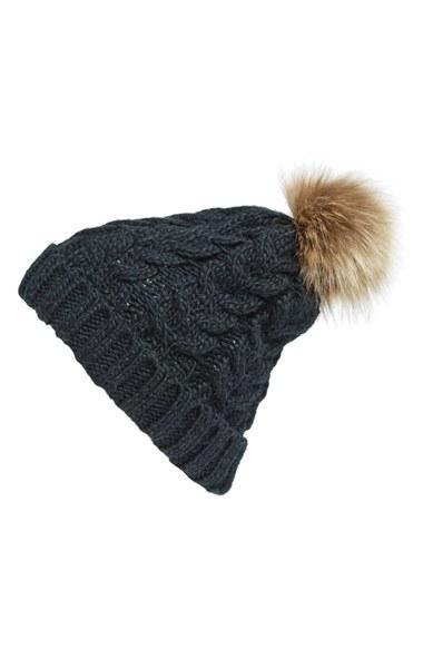 caae0bb5dfc BP. Knit Beanie with Faux Fur Pompom