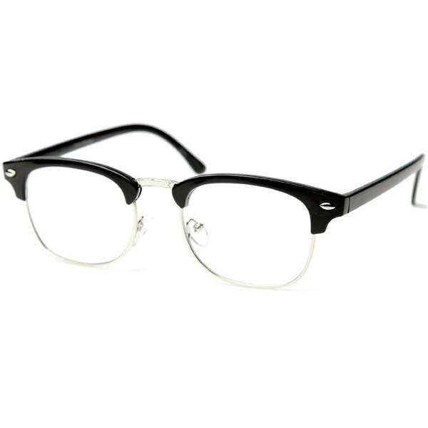 Black Glasses With Pink Rim