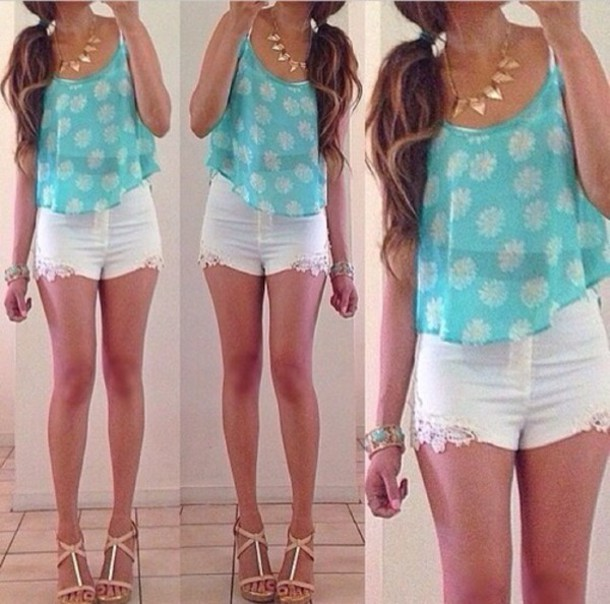 shirt shorts jewels