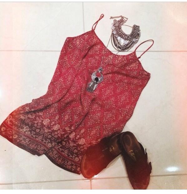 bohemian dress red bohemian dress