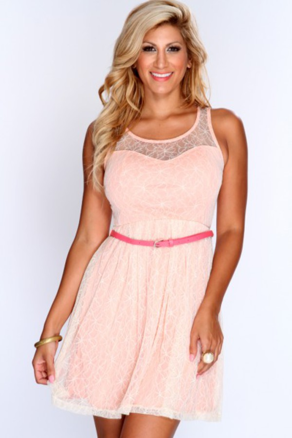 casual dress simple dress peach dress cream dress dusty pink amiclubwear short dress a line dress