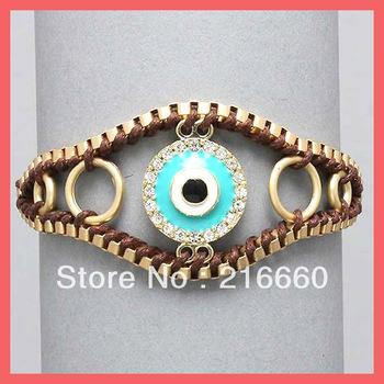 Fashion bracelet 2013 turkey evil eye charm bracelet