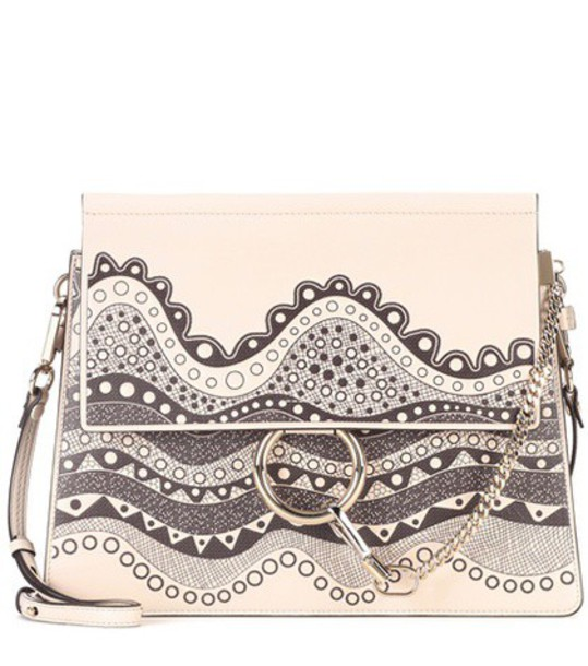 Chloe bag shoulder bag leather white