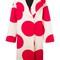 Msgm polka dots print coat, women's, size: 46, nude/neutrals, wool/polyamide/viscose