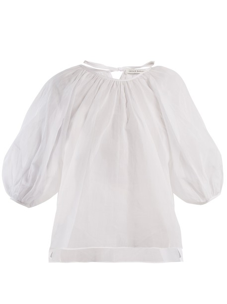 Cecilie Bahnsen top cotton white