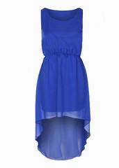 Sirenlondon — blue bird dip hem dress