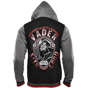 jacket,baseball,star wars,darth vader,sith lord,hoodie,black,grey,geek
