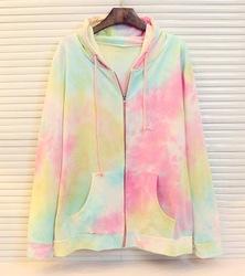 Harajuku japonés estilo de hielo de crema de color del arco iris de corbata teñido del cielo con capucha con en de en Aliexpress.com