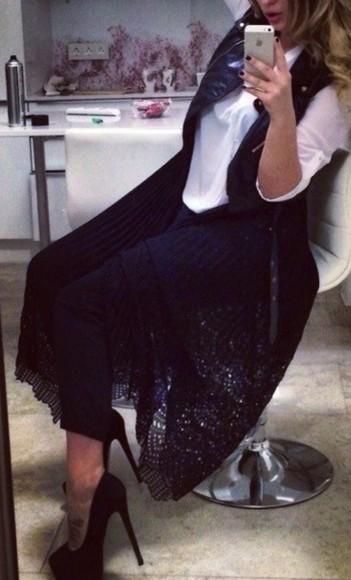 cardigan lace black gilet