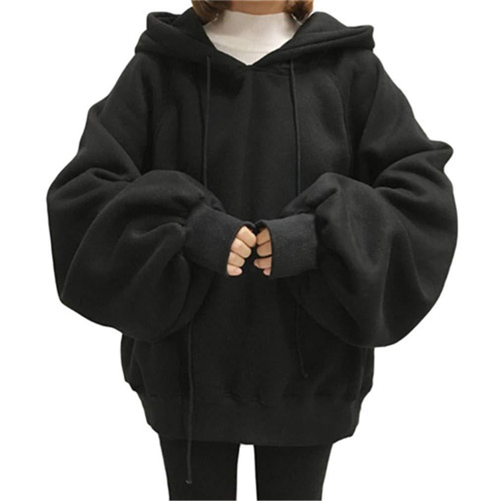 Long Lantern Sleeve Womens Oversized Hoodies Hip Hop Sweatshirts at Amazon Women's Clothing store:
