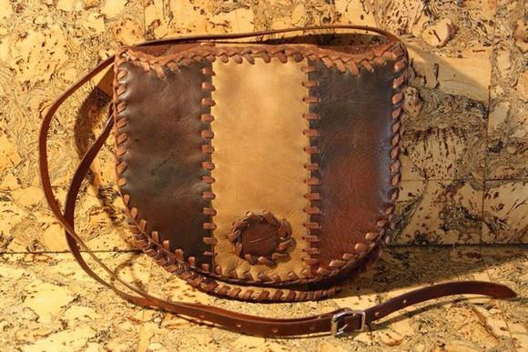 bag boho hippie genuine leather handbag precious stones boho chic