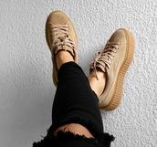 shoes,puma,suede,puma x rihanna,puma creepers,girly,girl,girly wishlist,rihanna,rihanna pumas,creepers,platform shoes,missguided,nude sneakers,suede sneakers,low top sneakers
