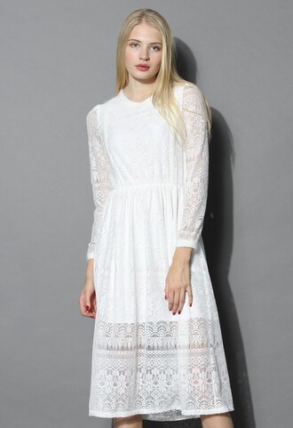 dress chicwish lace white song of lace dress in white