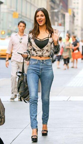 top jeans sandals platform sandals victoria justice denim skinny jeans