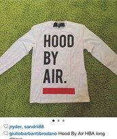 top,hood by air,white top,white sweater