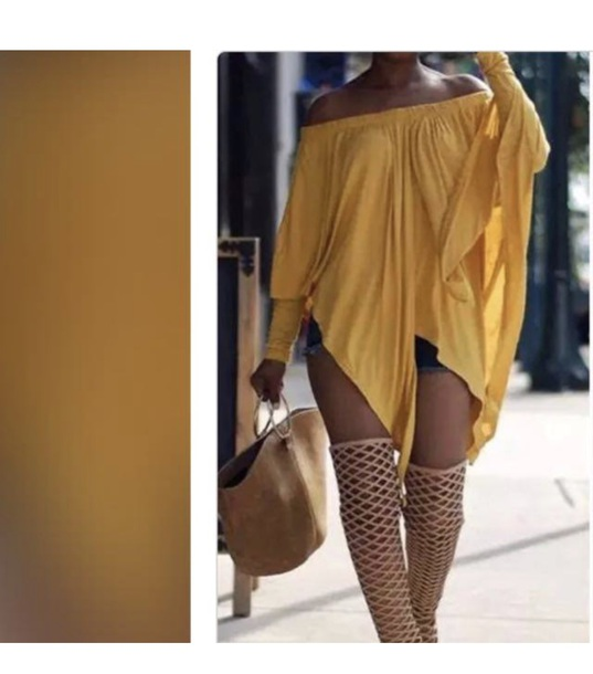 blouse mustard