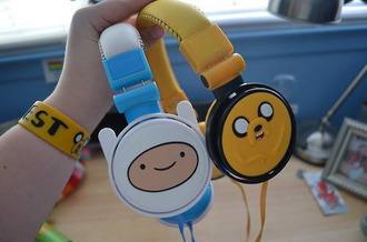 adventure time jake from adventure time kawaii headphones technology cute jewels earphones