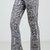 Floral Kaleidoscope Print Flare Pants