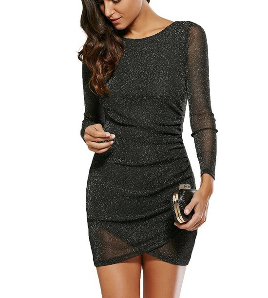 Short Little Black Dresses with Sleeves