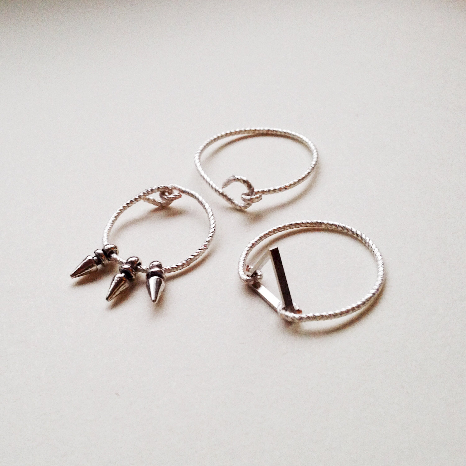 Ring -Triangle Ring, Wire Ring, Tribal Jewelry, Edgy Ring, Spike ...