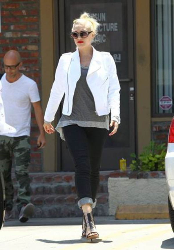 jacket gwen stefani shoes swetshirt