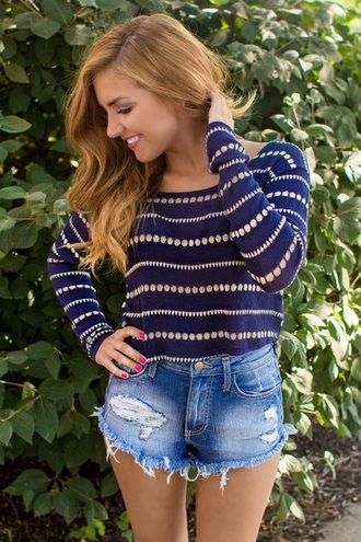 jewels sweater navy