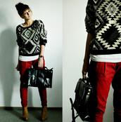sweater,bag,pants,shoes