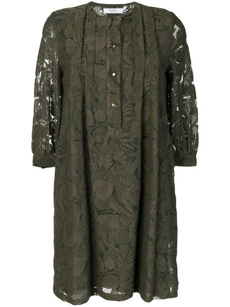 dress patterned dress women floral cotton green