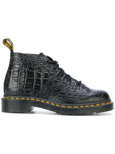 Dr. Martens women leather cotton black crocodile shoes