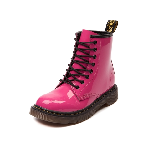 Girls Youth Dr. Martens 8-Eye Lamper Boot, Pink, at Journeys Shoes