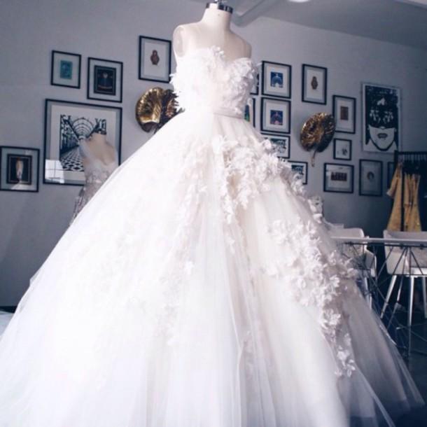 dress wedding dress luxury wedding dresses luxury flowers wedding long gorgeous tenderness