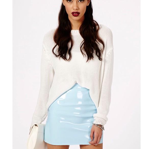 skirt blue skirt leather