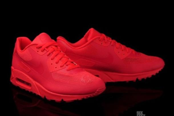 Shoes: nike, air max, 90, nike air max 90 hyperfuse, red ...  Shoes: nike, ai...