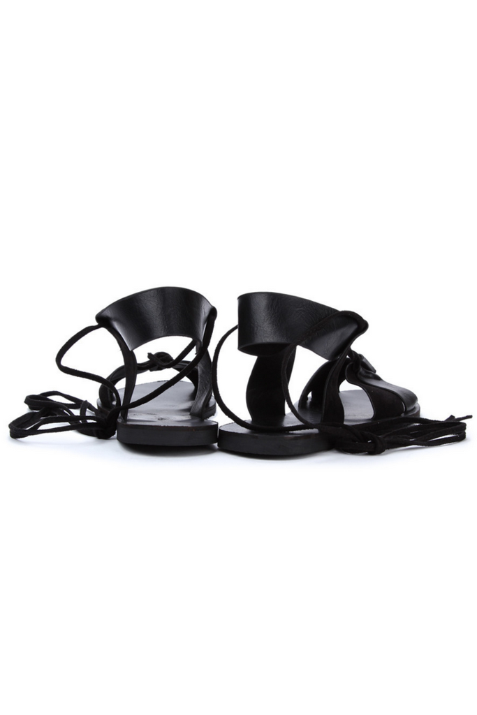 Shalex Flat Sandals with Gladiator strap | SHALEX.NET