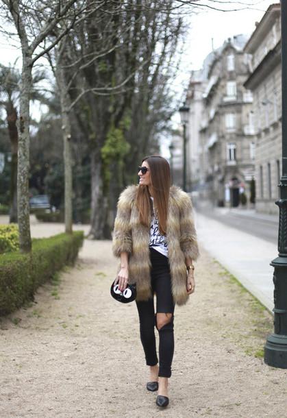 b a r t a b a c blogger t-shirt coat jeans shoes bag jewels