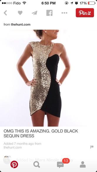 dress black dress gold sequins sexy dress sequin dress gold dress little black dress bodycon dress tight black dress new year's eve