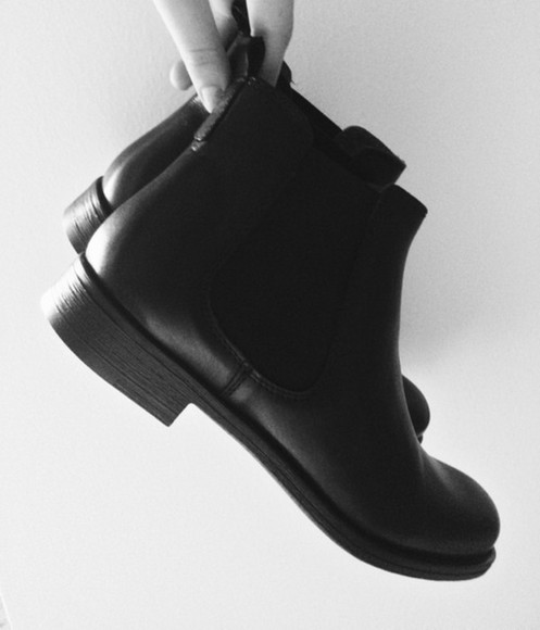 boots shoes ankle boots black fashion classy chelsea boots