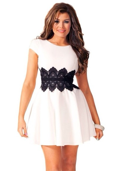 dress white dress skater dress mini skater dress