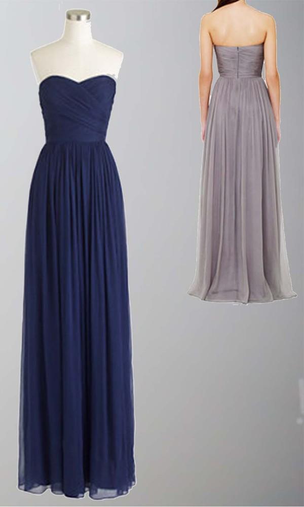 blue dress long prom dress long bridesmaid dress sweetheart dress ruched dress maid of honor dress