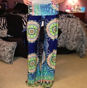 pants,hippie,pattern,bright,flowers,comfy,yoga