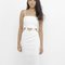 Vivienne cutout midi dress in white at flyjane