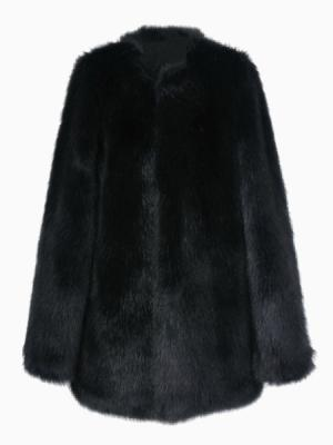 Choies: Search For Biker Leather Look Coat With Faux Fur Sleeve