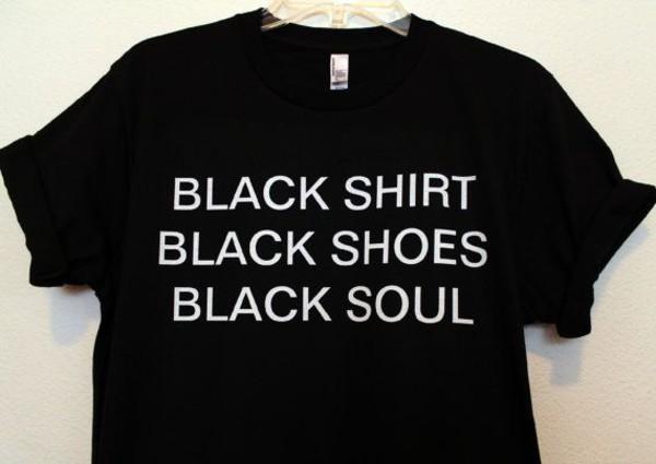 t-shirt black t-shirt black friday cyber monday shirt grunge black soul top black shirt grunge t-shirt tumblr