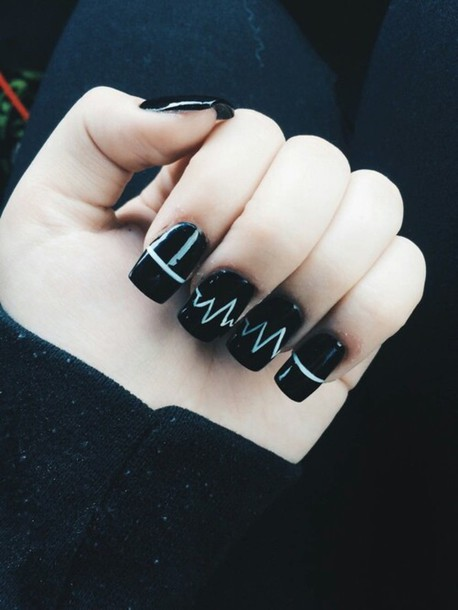 Black nail art tumblr images nail art and nail design ideas nails tumblr girl beautify themselves with sweet nails nails grunge goth goth tumblr outfit tumblr girl prinsesfo Images