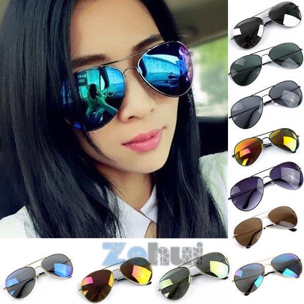 Reflective Sunglasses Women's Mercury Metal Frame Eyeglasses Spectacles 11 Color | eBay