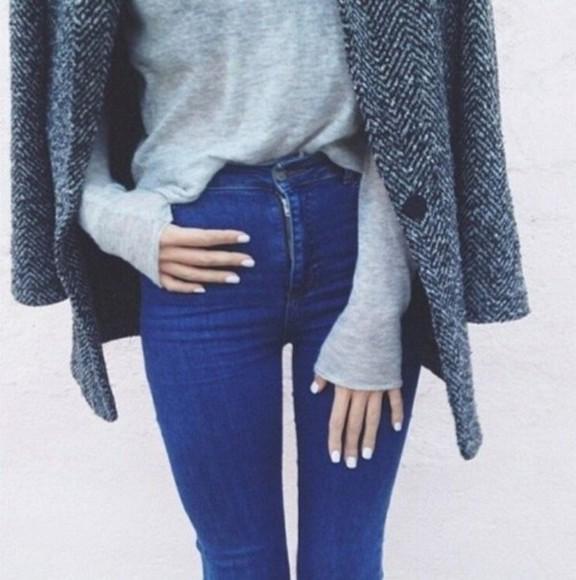 gray gray coat jacket white coat stripes stripes coat gray sweater style clothes