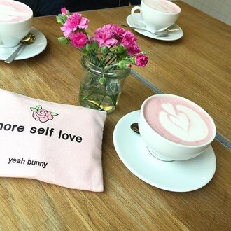 make-up yeah bunny bag makeup bag more floral pastel pink pouch