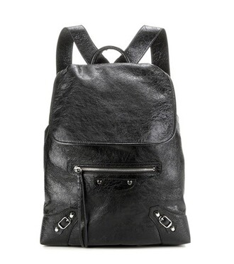 classic backpack leather backpack leather black bag
